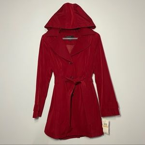 NWT Jason Kole Red Trench Coat